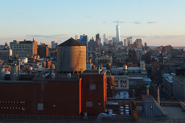 NYC view from Mohawk Showroom