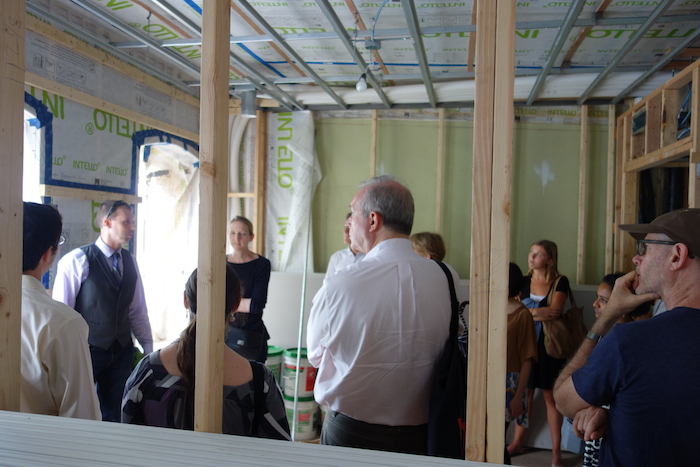 Passive House under construction in Brooklyn
